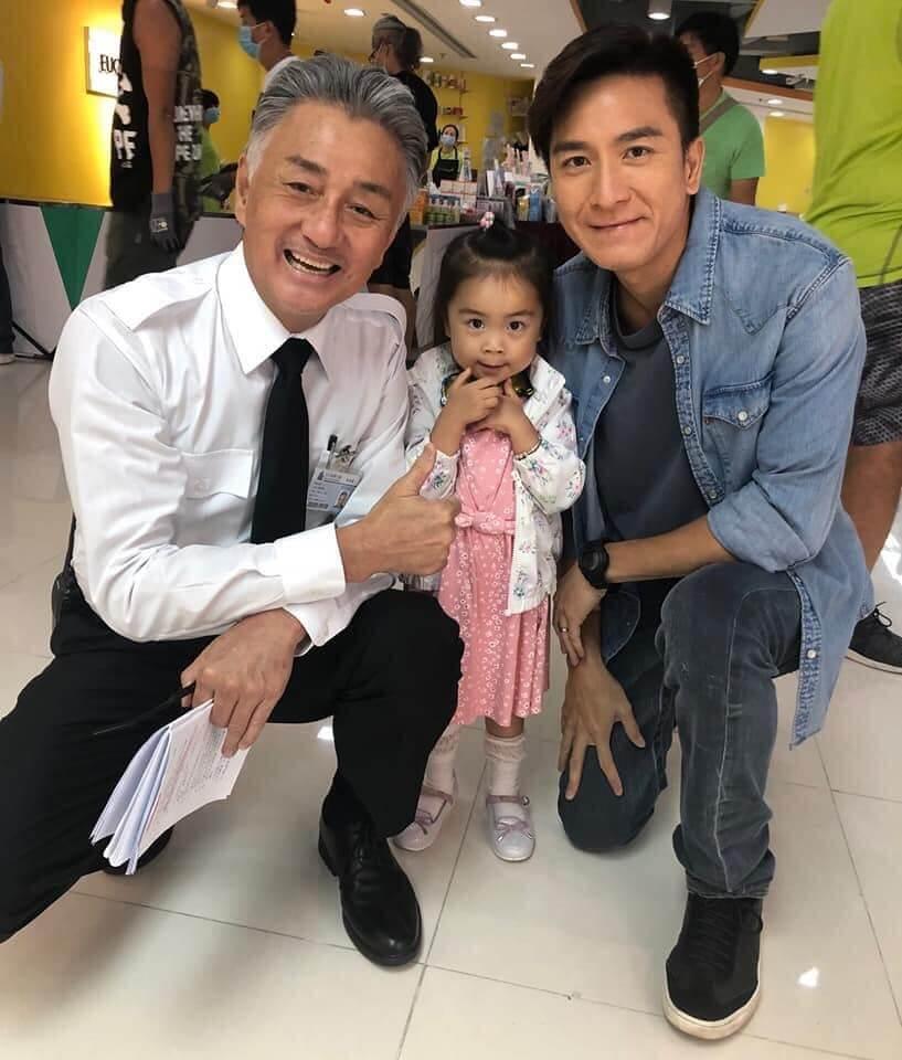 吳岱融在新劇《寶寶大過天》演馬國明的父親,小女孩演馬的囡囡。