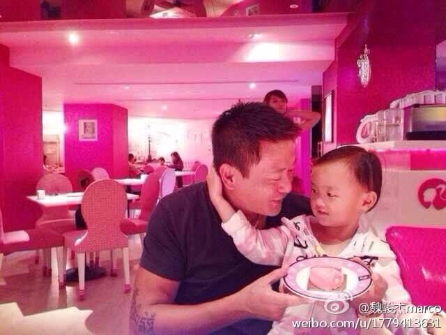 魏駿傑做爸爸很有耐性,女兒跟他關係很好。