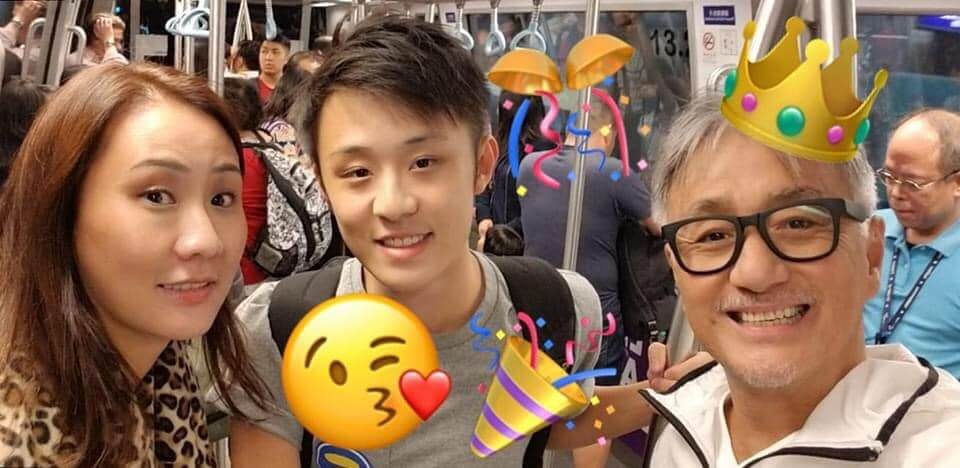 吳岱融、鍾淑慧的兒子剛在英國完成學業,在新加坡做電腦特技師。