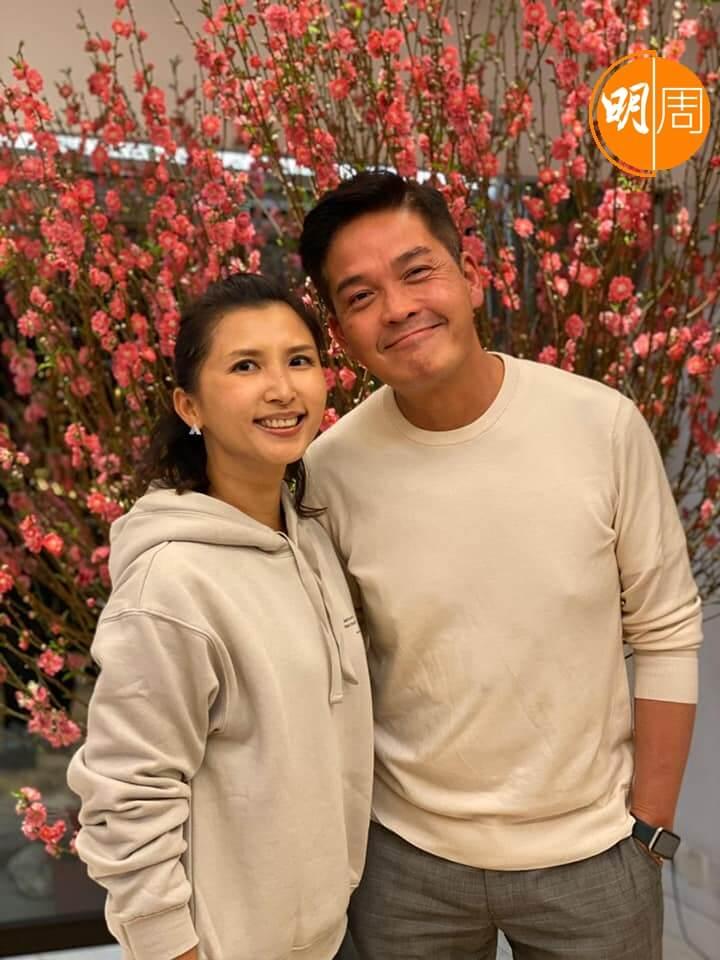 鄭啟泰與女友Francesca