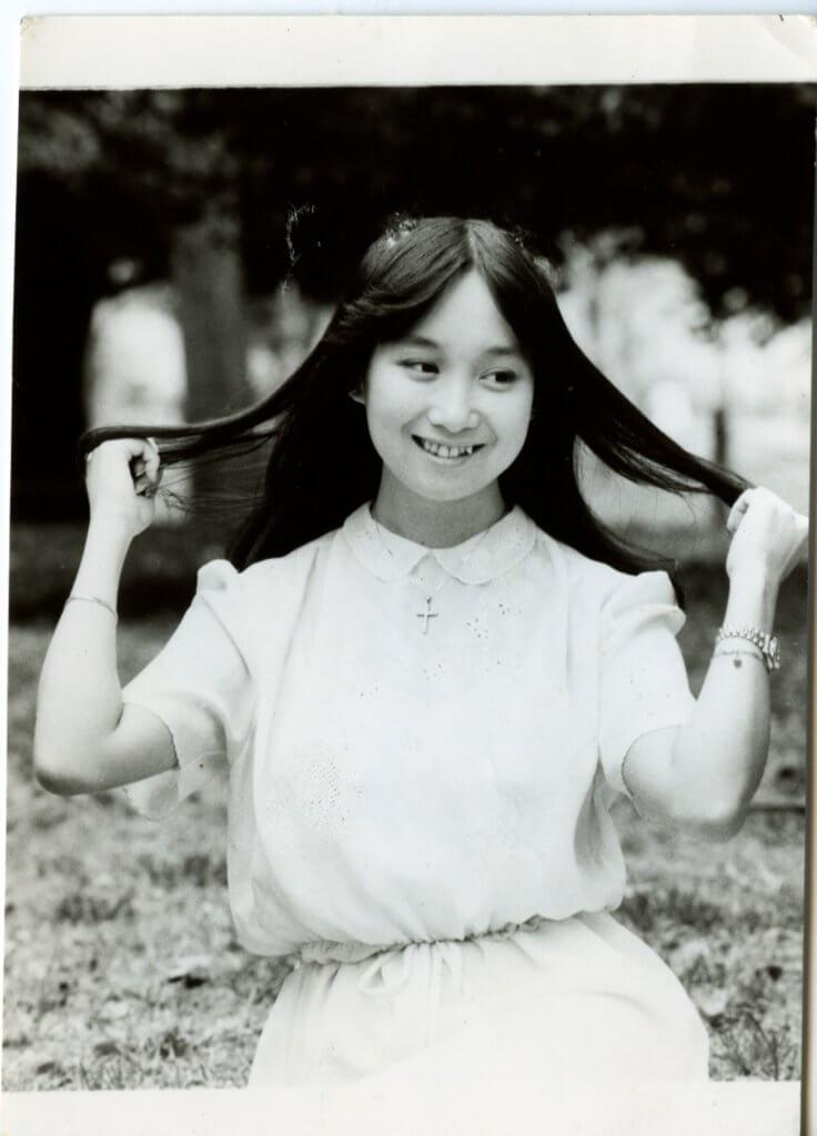 陳美齡的純情打扮很受學界歡迎