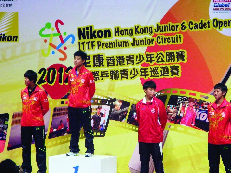 一二年參加國際乒聯主辦的青少年錦標賽,接連不斷的分站賽令她累積實戰經驗。