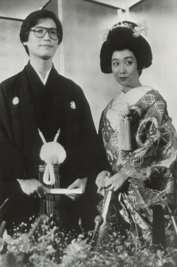 陳美齡和金子力穿上日本傳統禮服舉行婚禮