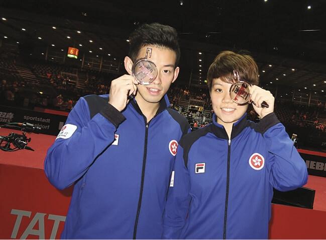 「一哥」黃鎮廷和「一姐」杜凱琹經常聯手打混雙,兩人希望成為「最佳拍檔」在東京奧運為香港爭光。