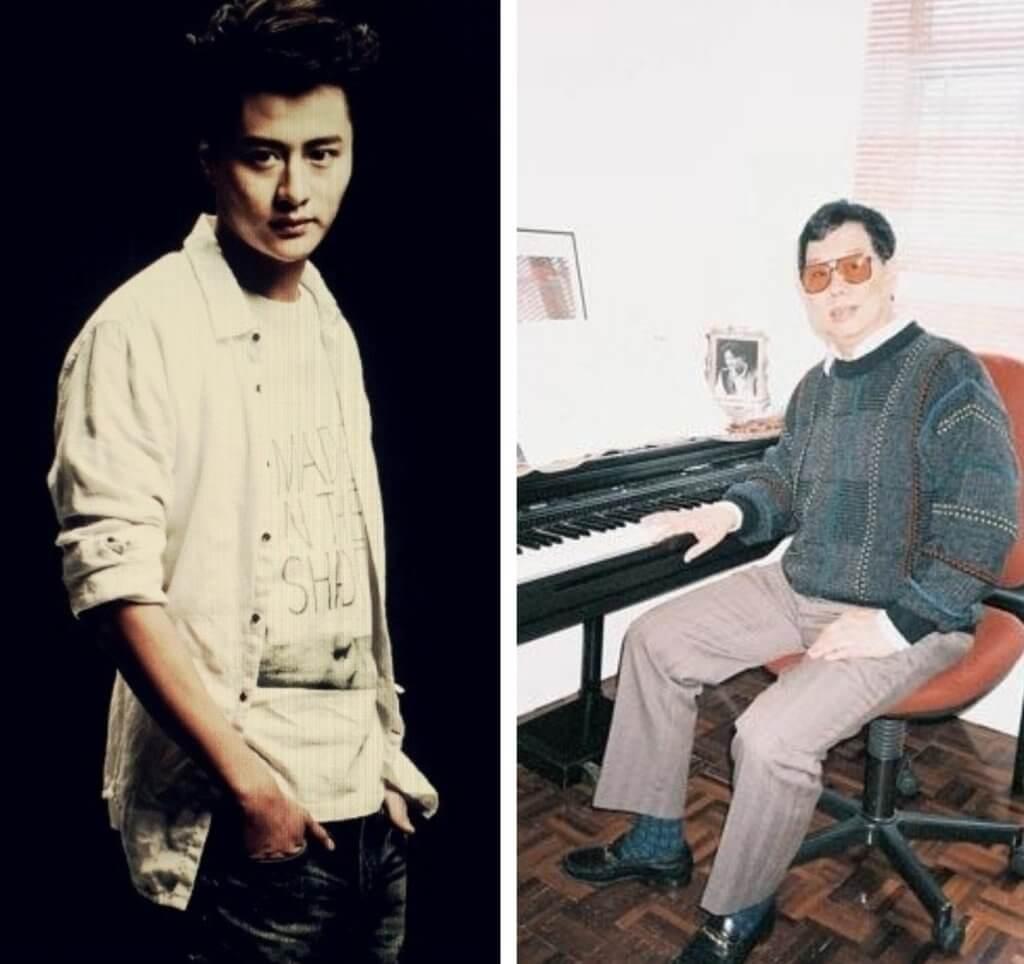 謝東閔17歲時跟戴思聰 (右) 學唱歌