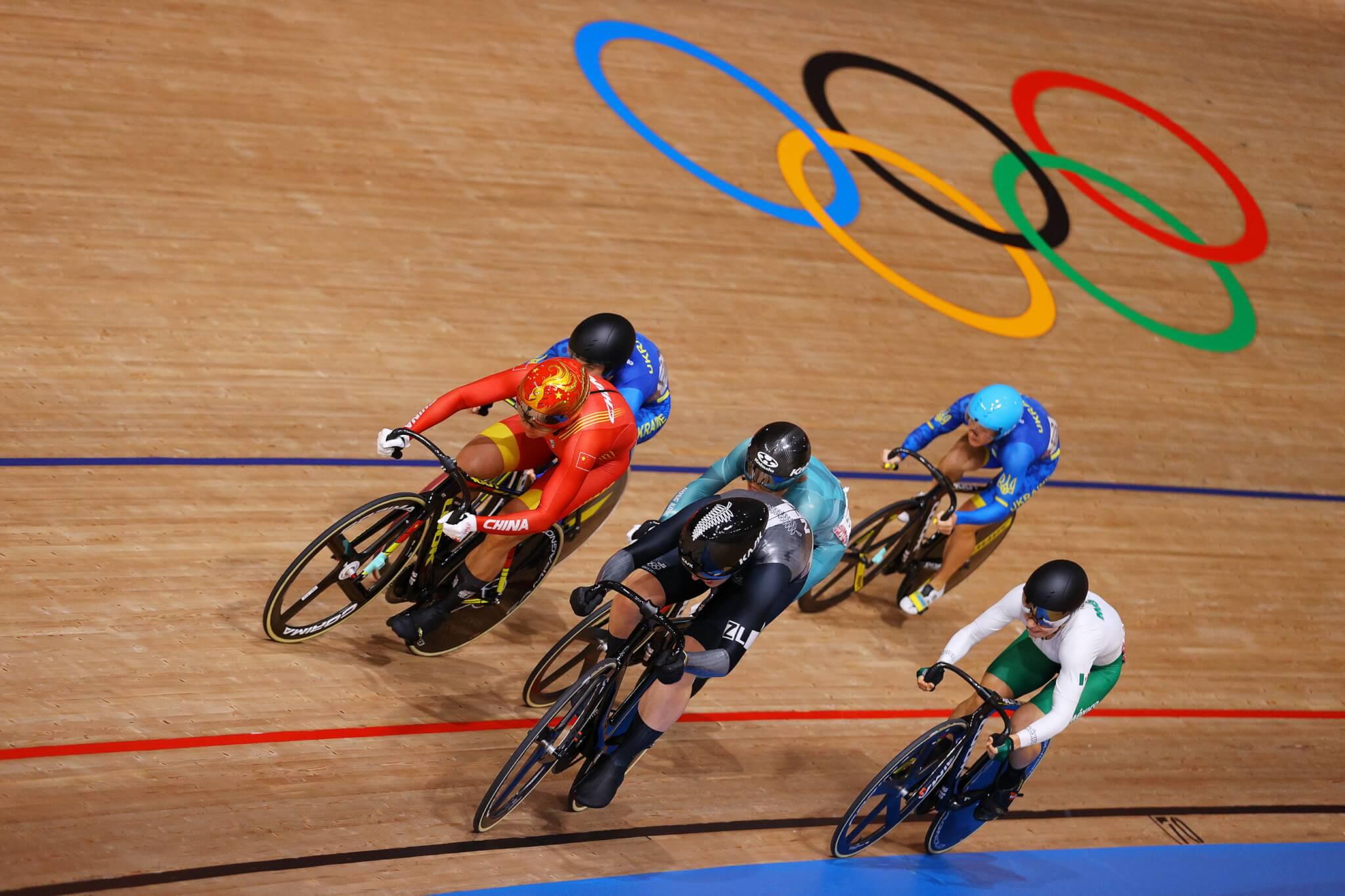 李慧詩於東奧場地女子單車賽凱林賽的半準決賽只取得第5名,及後的完成名次賽,以總成績第8名完成今屆賽事。(法新社圖片)