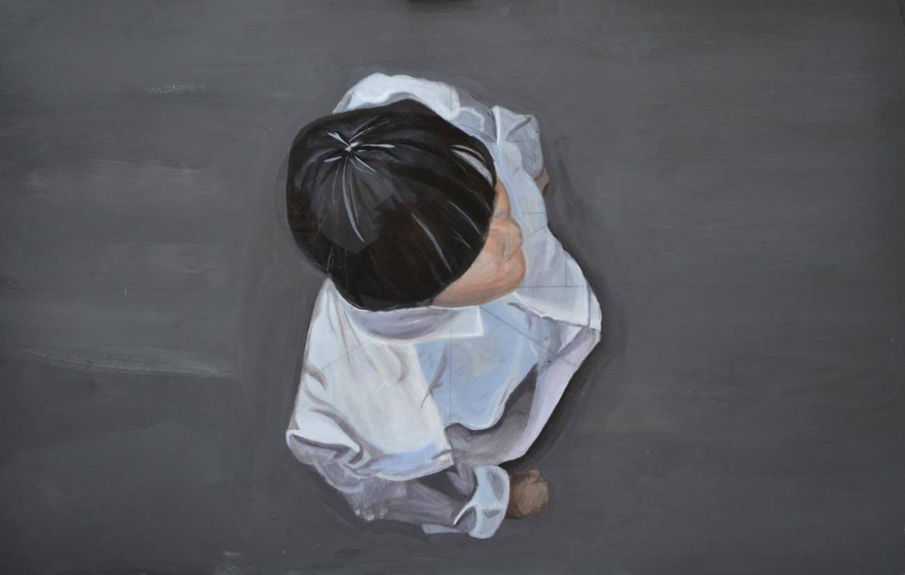 邵初藝術畫作,被老師所購下。
