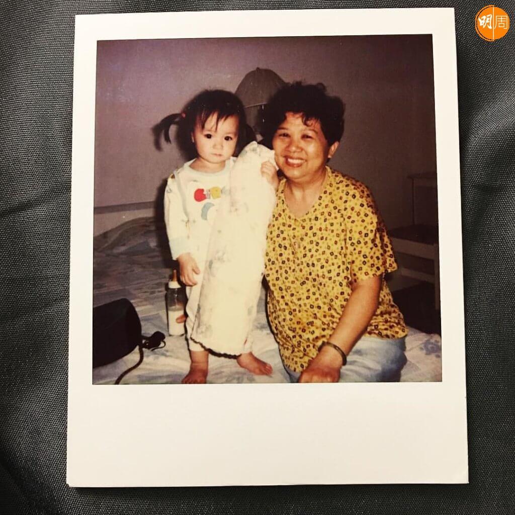 陳瀅童年是個大眼睛妹妹,由婆婆照顧大。