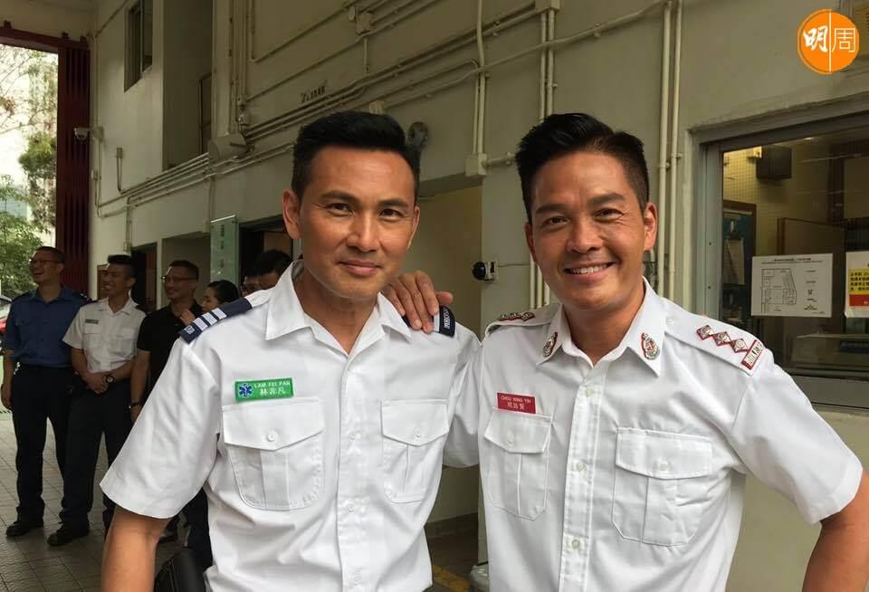 鄭啟泰和林文龍合作拍劇