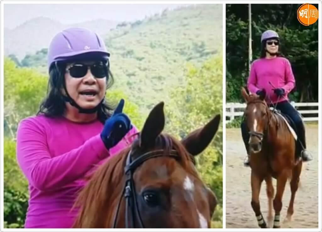 威利熱愛騎馬,練到接近職業騎師水平。