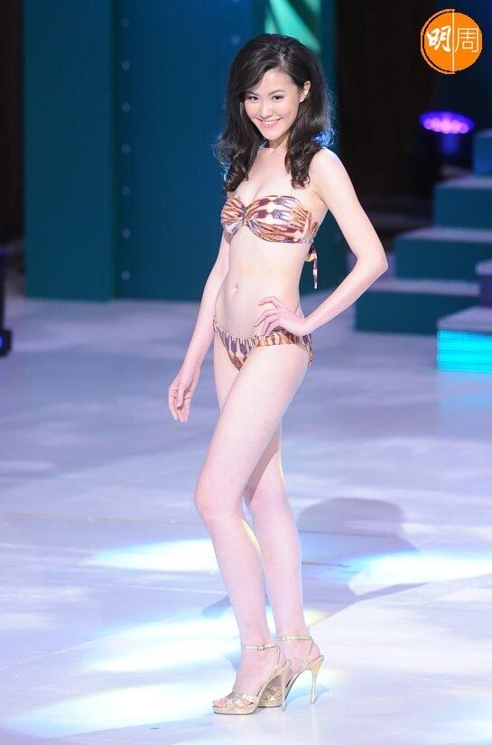 劉佩玥選港姐時的泳裝造型