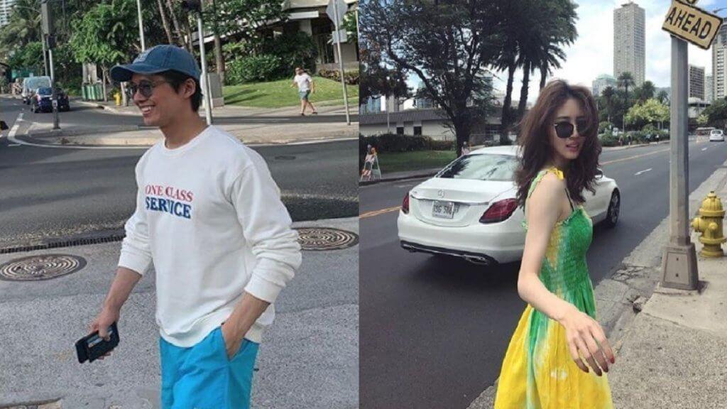 南宮珉和陳雅凜前年到夏威夷旅行,各自在社交網站上載照片,但全是個人照。