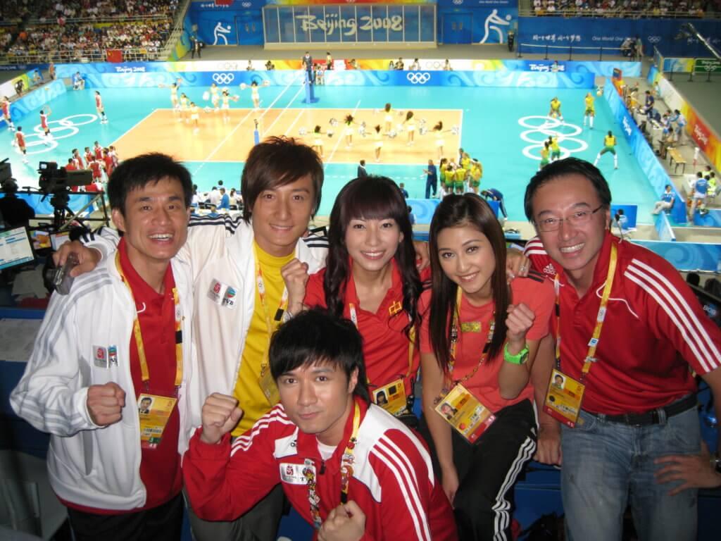 當年北京奧運,無綫派出多名藝員同事採訪,陣容鼎盛。