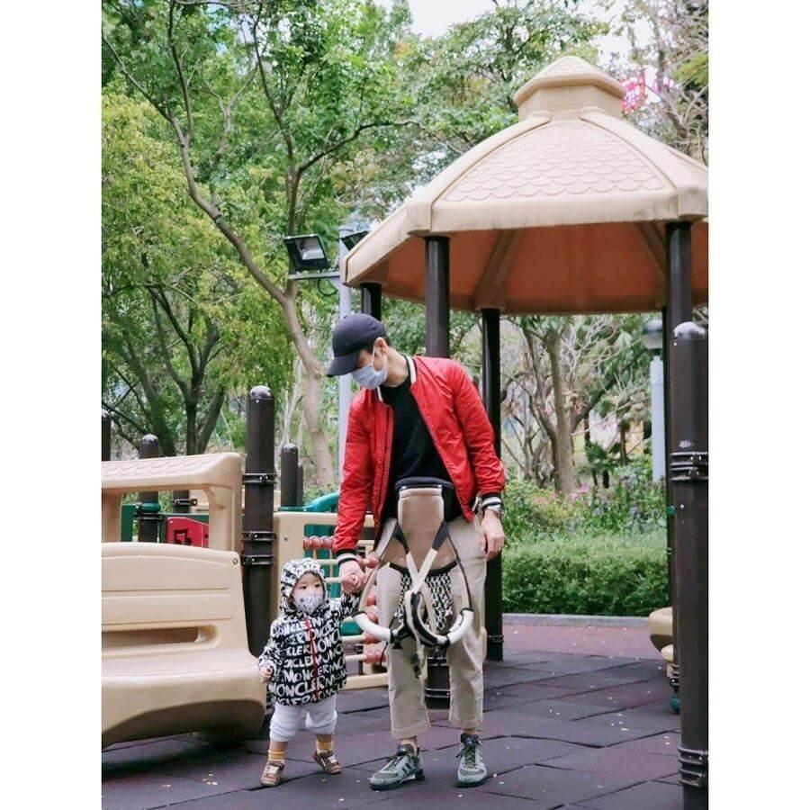 Grace感激鄭嘉穎這段時間的悉心照顧,又代她帶兒子Rafael去公園「放電」,讓她有足夠時間留在家休息養胎。