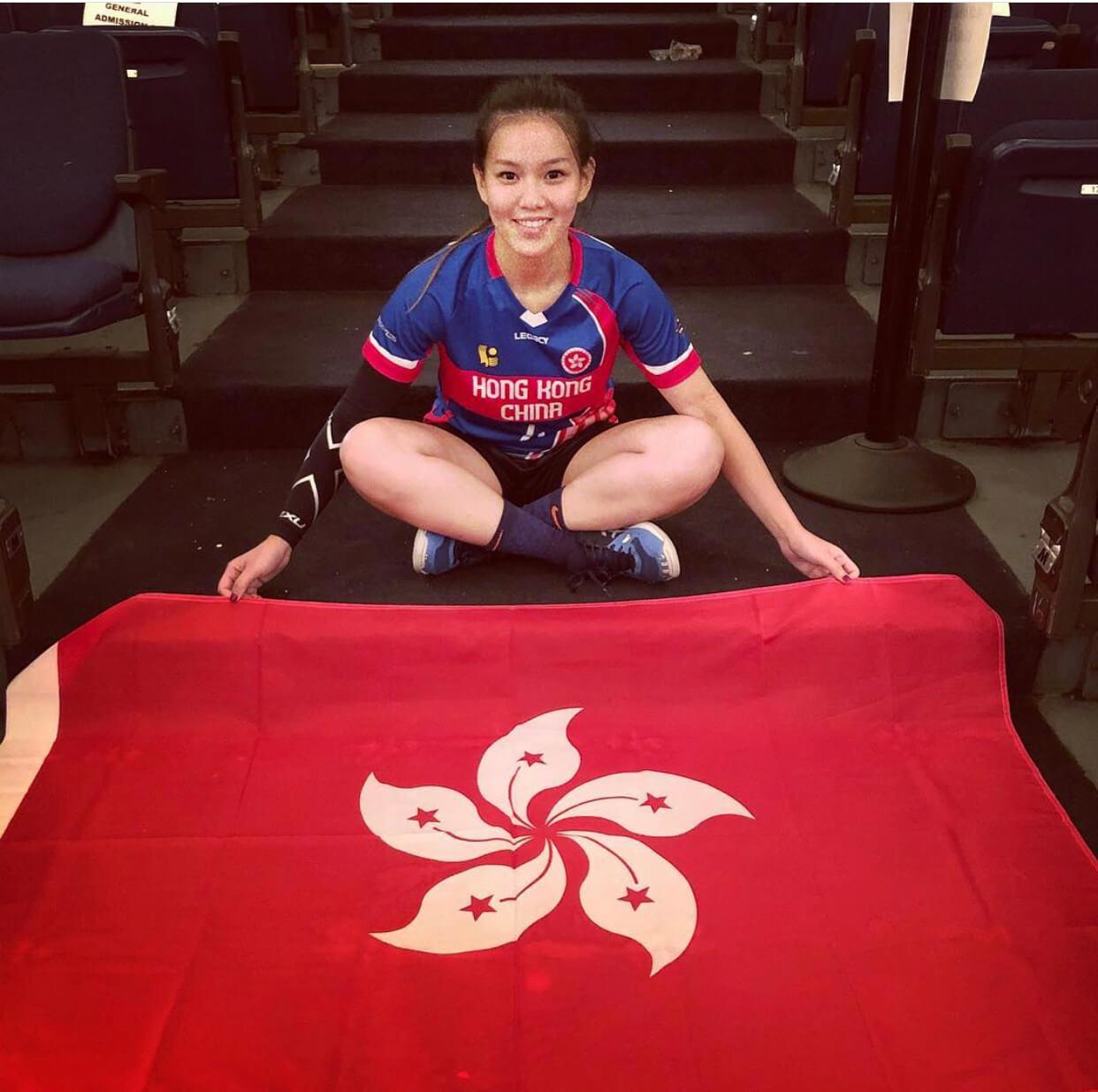 Christy讀書時代表香港到美國參加閃避球世界賽,得到第四名。