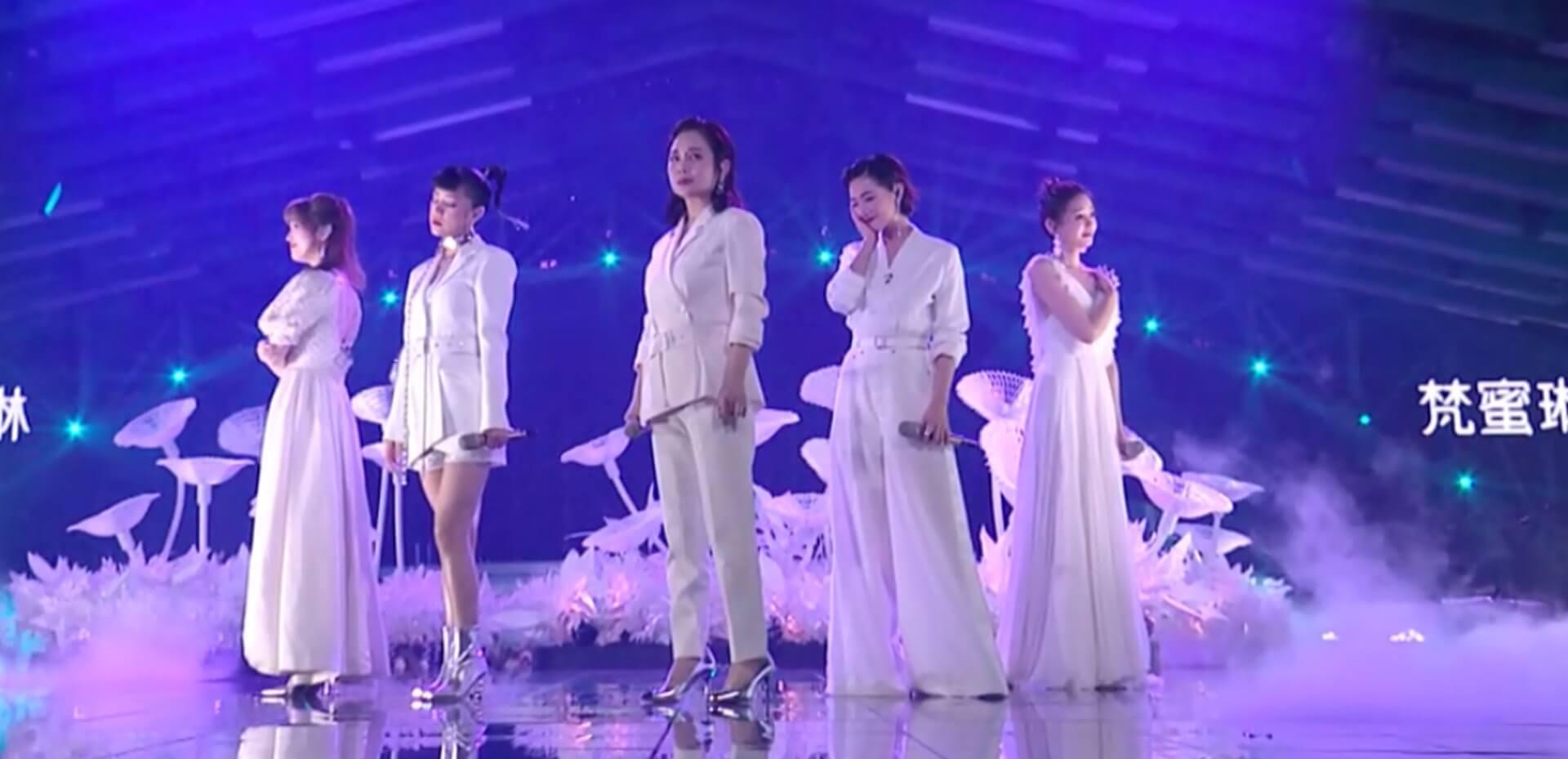 因為是分組主唱,松松不想坐輪椅出場,頂硬上與其他「姐姐」演唱蔡健雅的《Beautiful Love》。