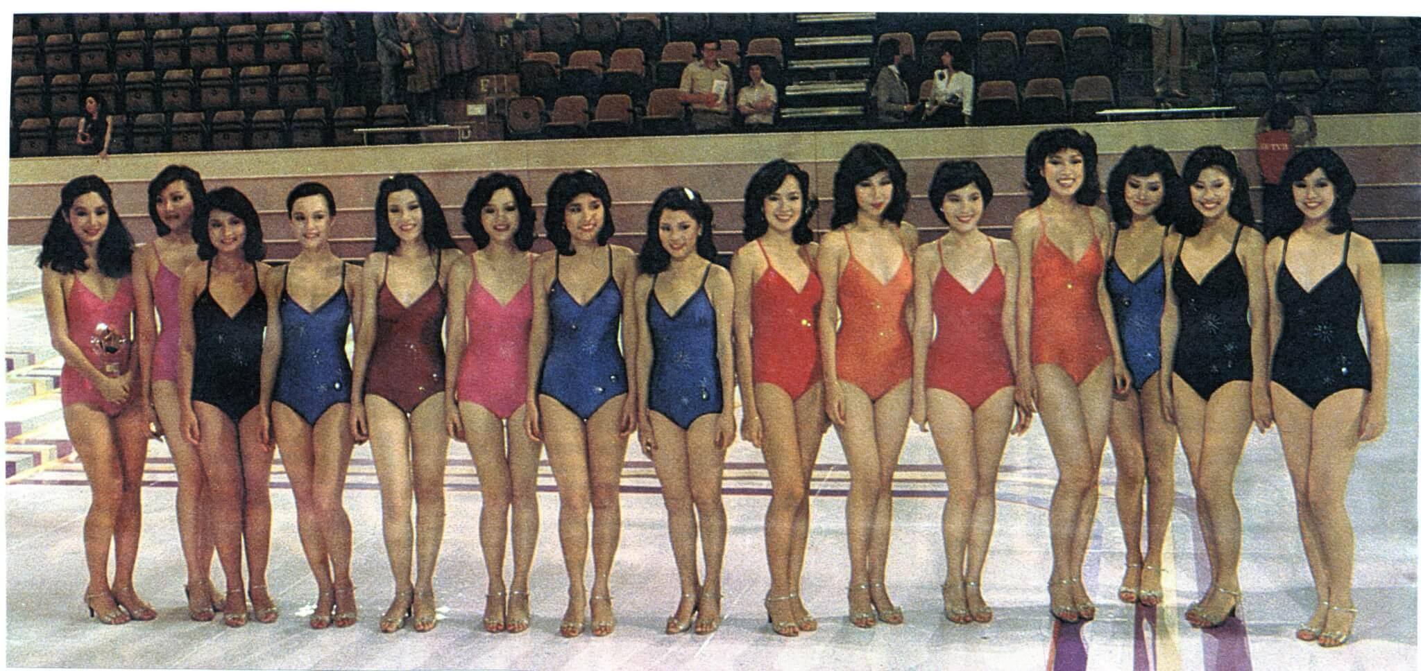 翁美玲1982年參選香港小姐
