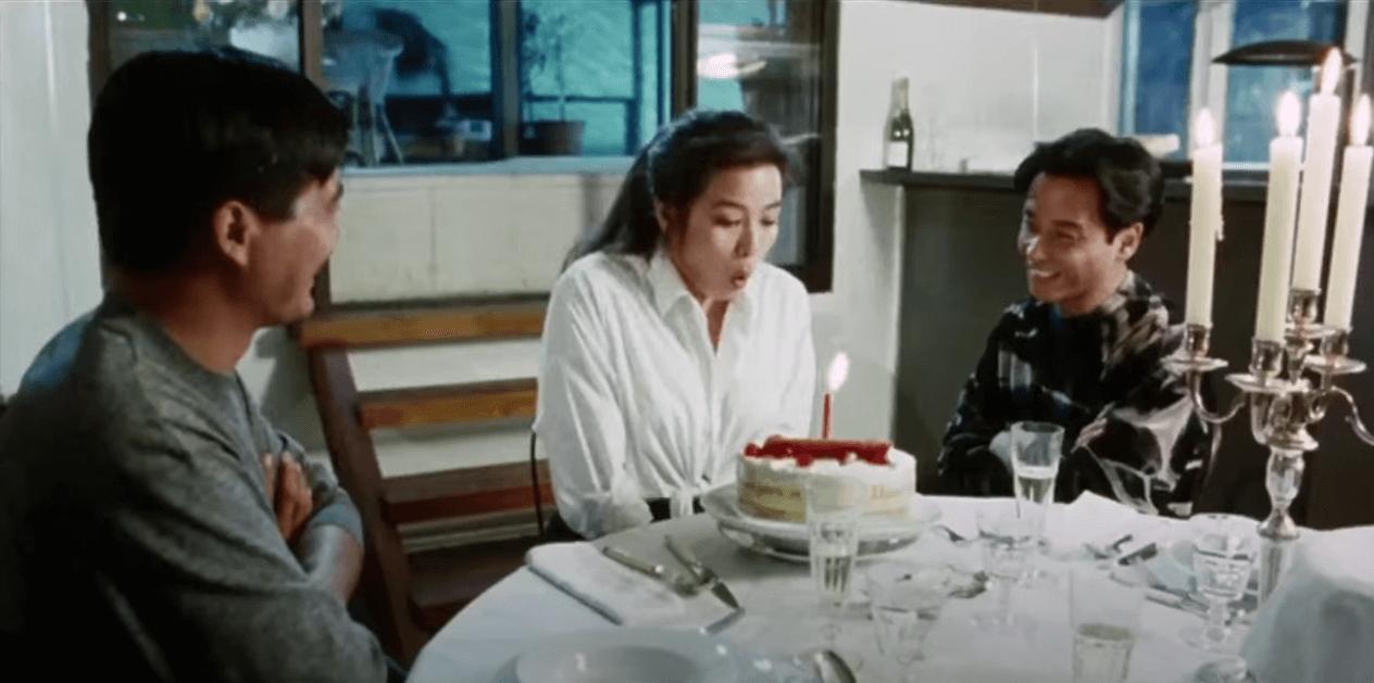 鍾楚紅、周潤發和張國榮在1991年主演《縱橫四海》。