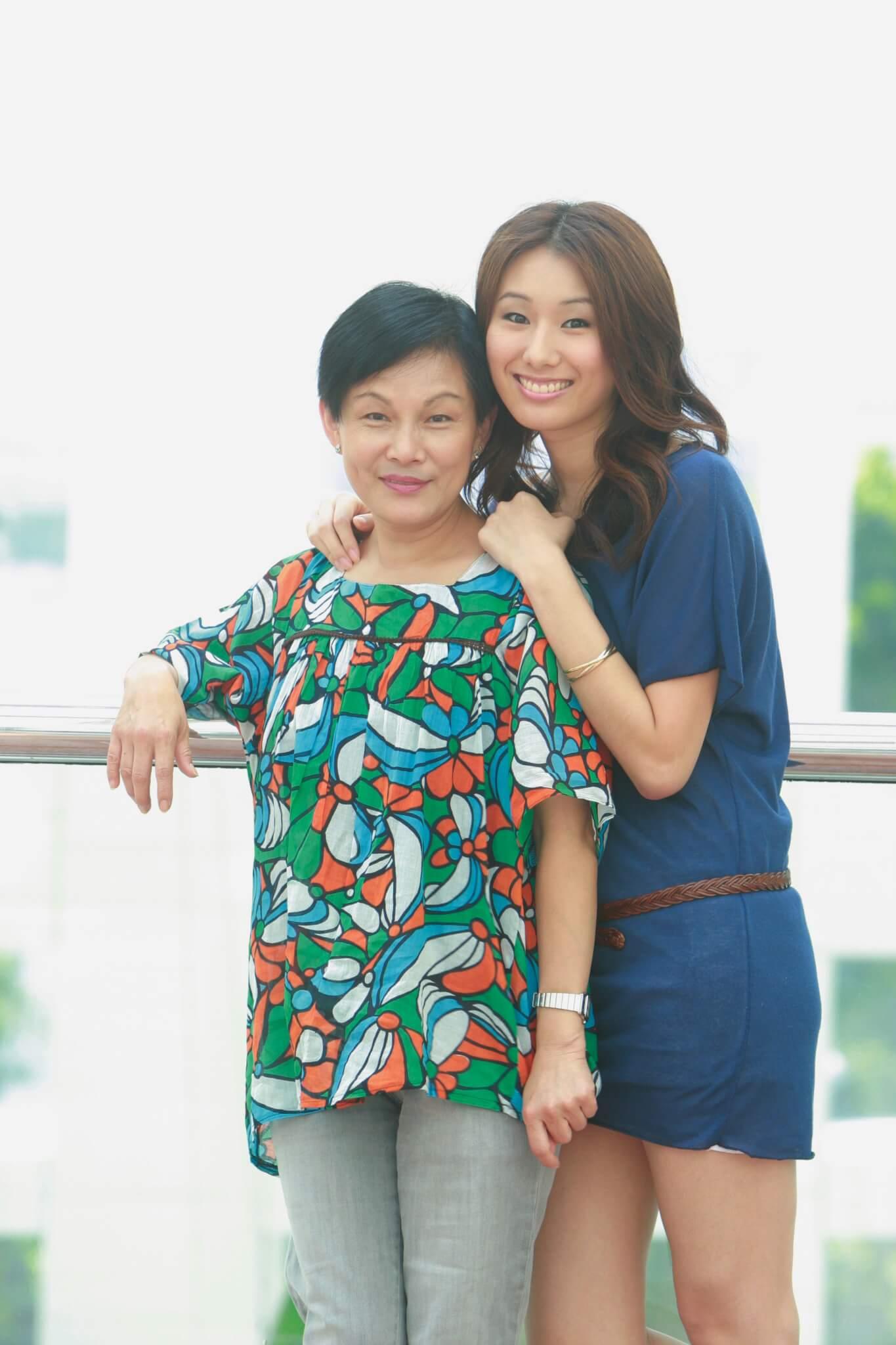 Winne與母親李影