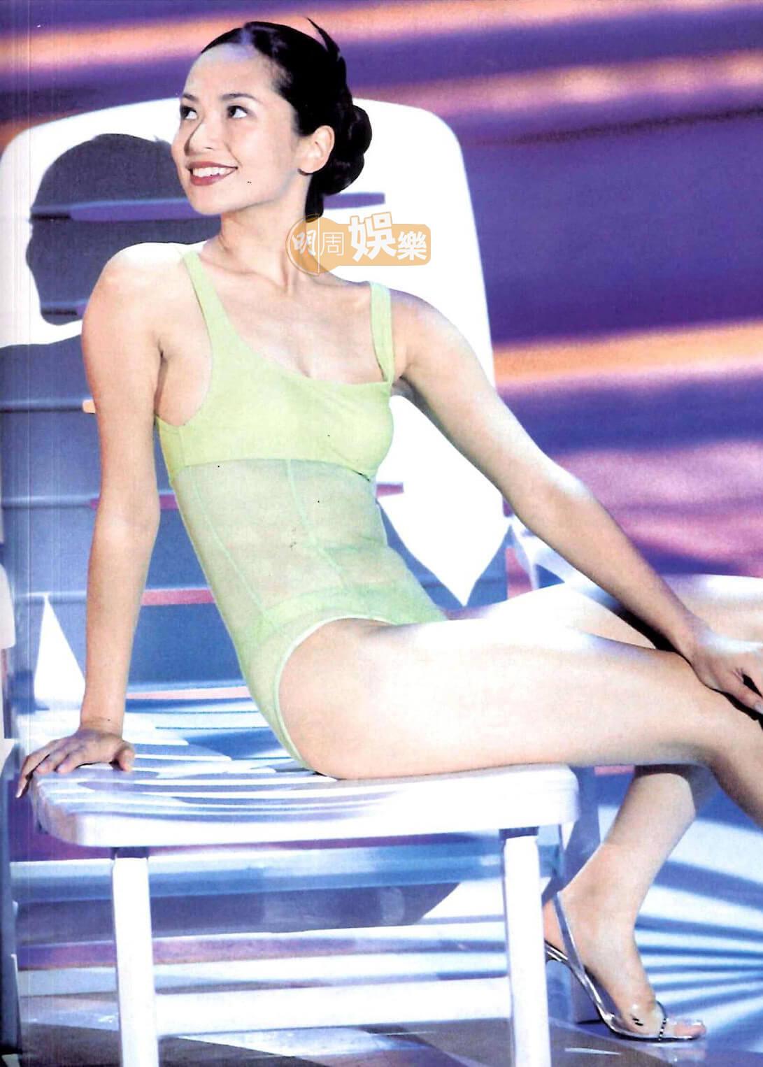 郭羨妮為中英混血兒,擁有一身健康膚色