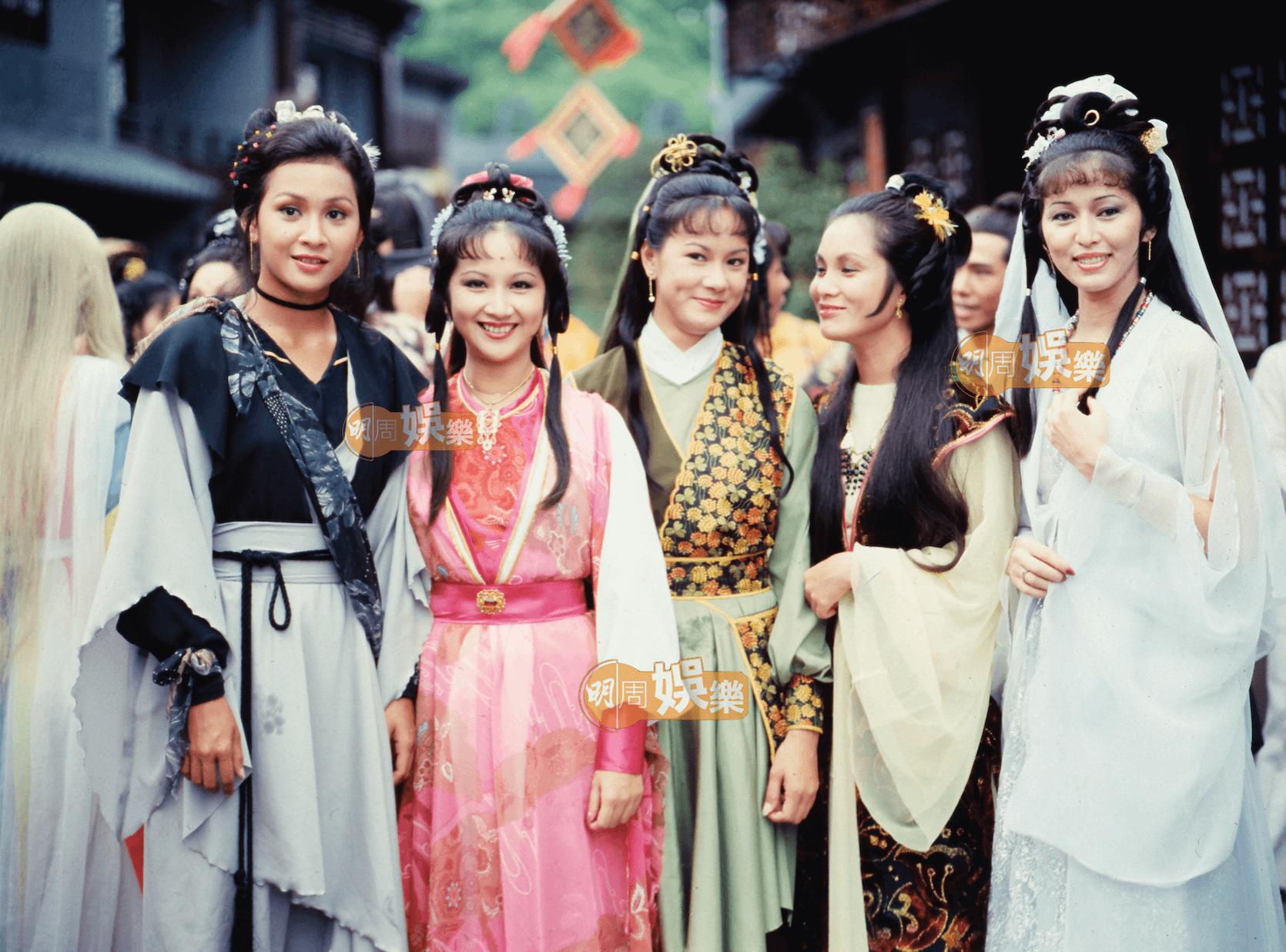 張瑪莉與余安安、薛家燕、苗可秀及李影合演《天龍訣》。