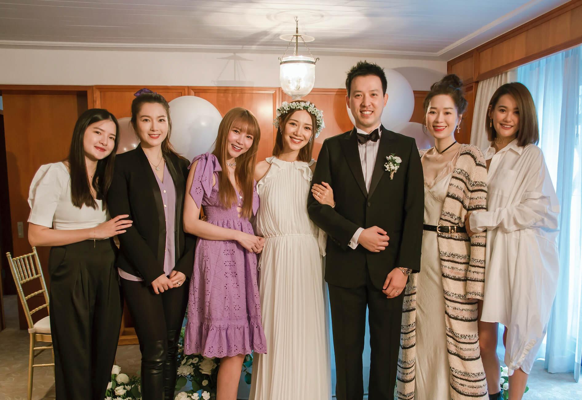 (左起)經理人ula, 苟蕓慧,Lilian kan, elva, V先生,Zelia, angel