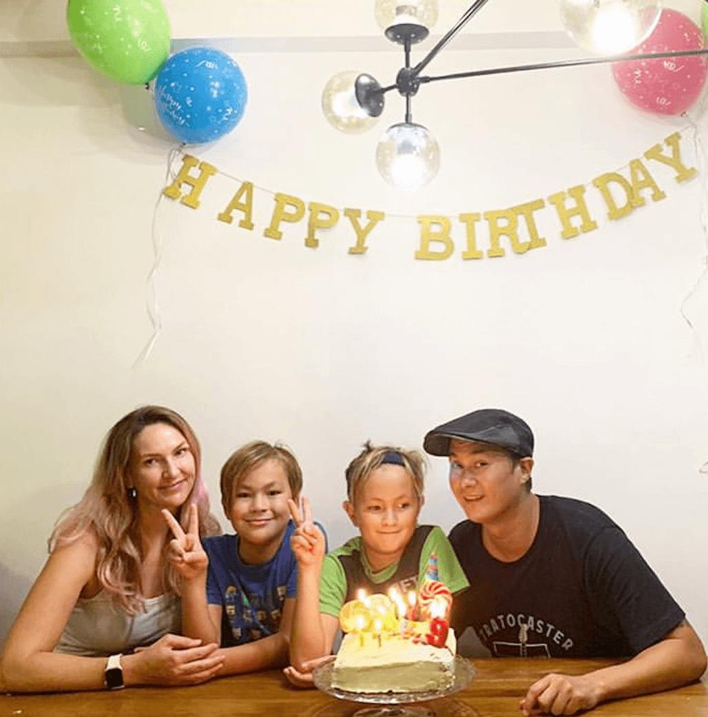 Ryan上個月為兒子慶生