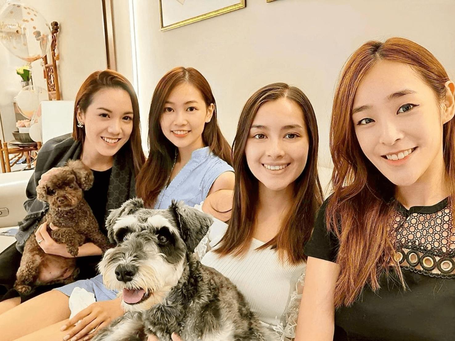 郭柏妍跟幾位得獎佳麗的感情非常要好,早前更一齊上陳楨怡的家吃飯及玩狗。