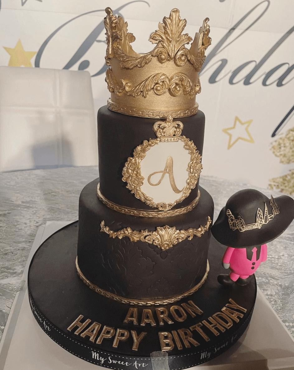 Moka貼蛋糕照向老公送上祝福