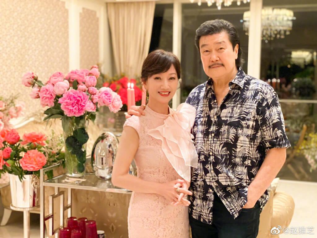 趙雅芝與黃錦燊結婚多年,仍然恩愛如昔