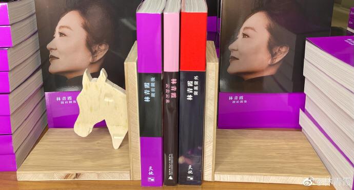 青霞指這是女兒嘉倩親手為她製作的書架,她覺得這生日禮物非常清秀和有藝術性,會一輩子珍藏,又稱將來每寫一本書就加進一本,希望這隻馬頭愈拉愈寛。