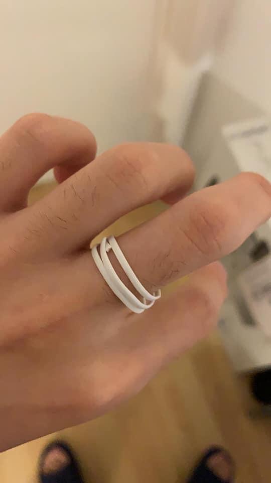 兒子自製的戒指