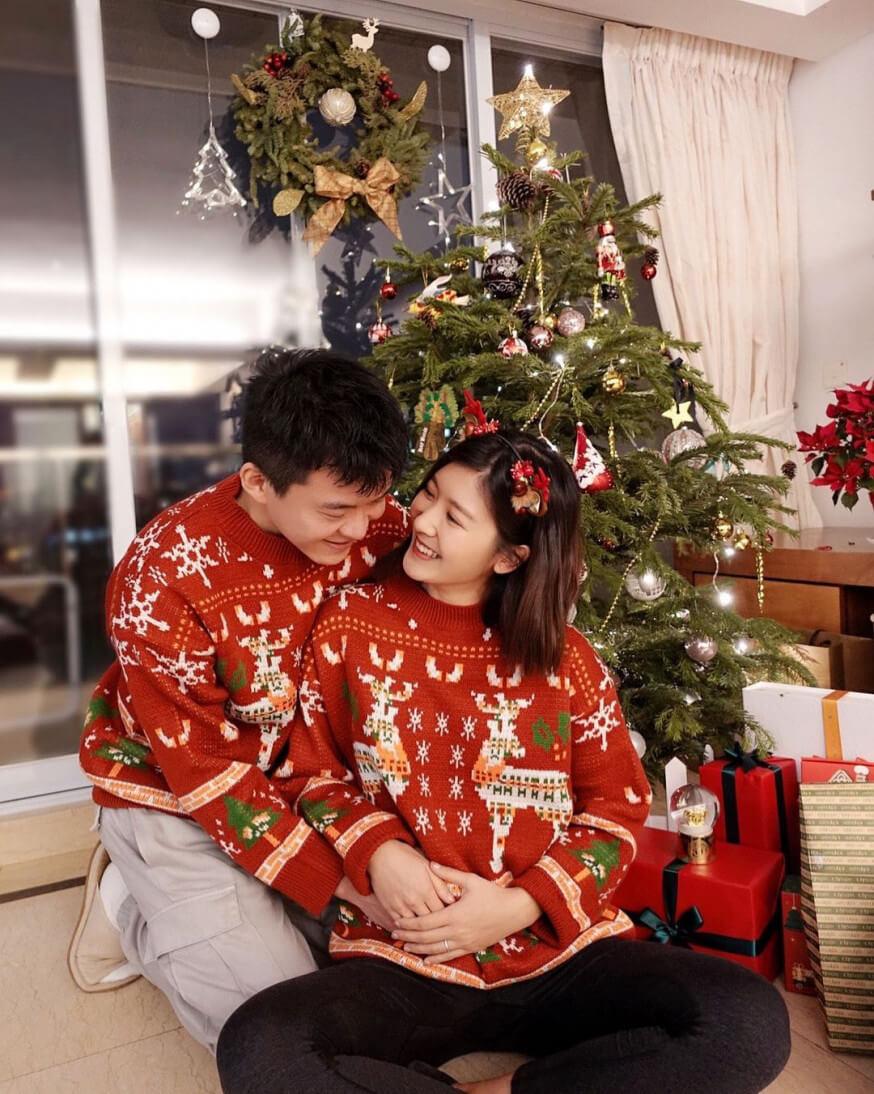 余香凝:「All I want for Christmas is YOU , Merry Christmas! 謝謝上天賜給我們最好的禮物。」