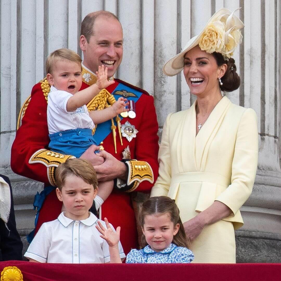 二人育有3個孩子喬治、夏綠蒂和路易斯