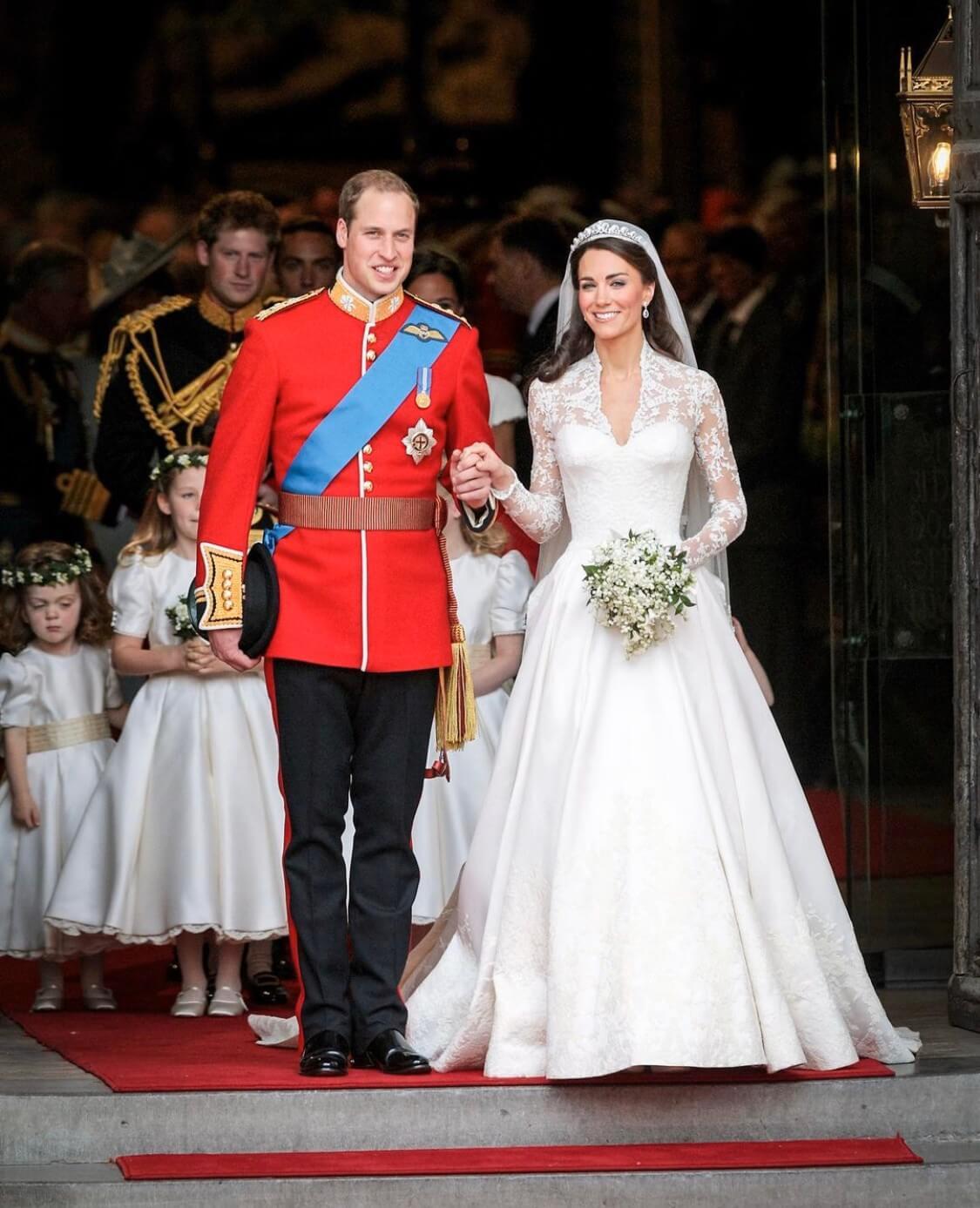 2011年4月29日,威廉王子在西敏寺迎娶凱特