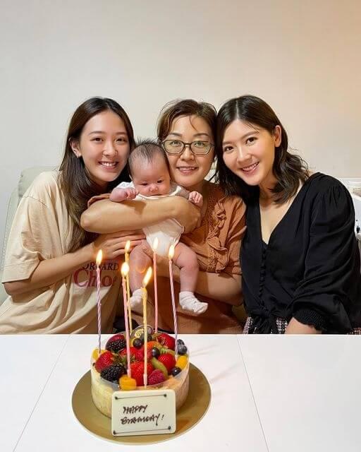 余香凝為媽媽婆婆慶生