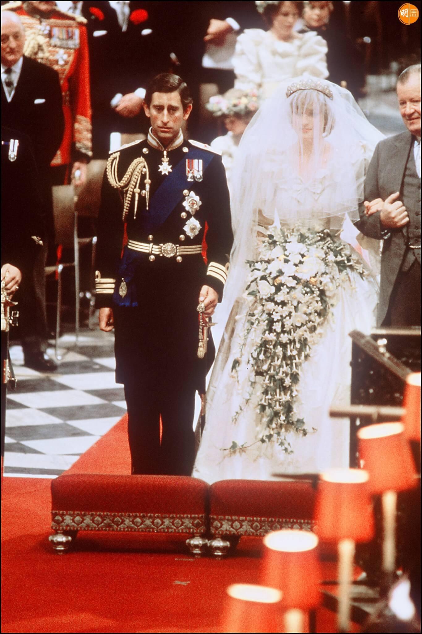 戴安娜結婚 圖片來源:法新社