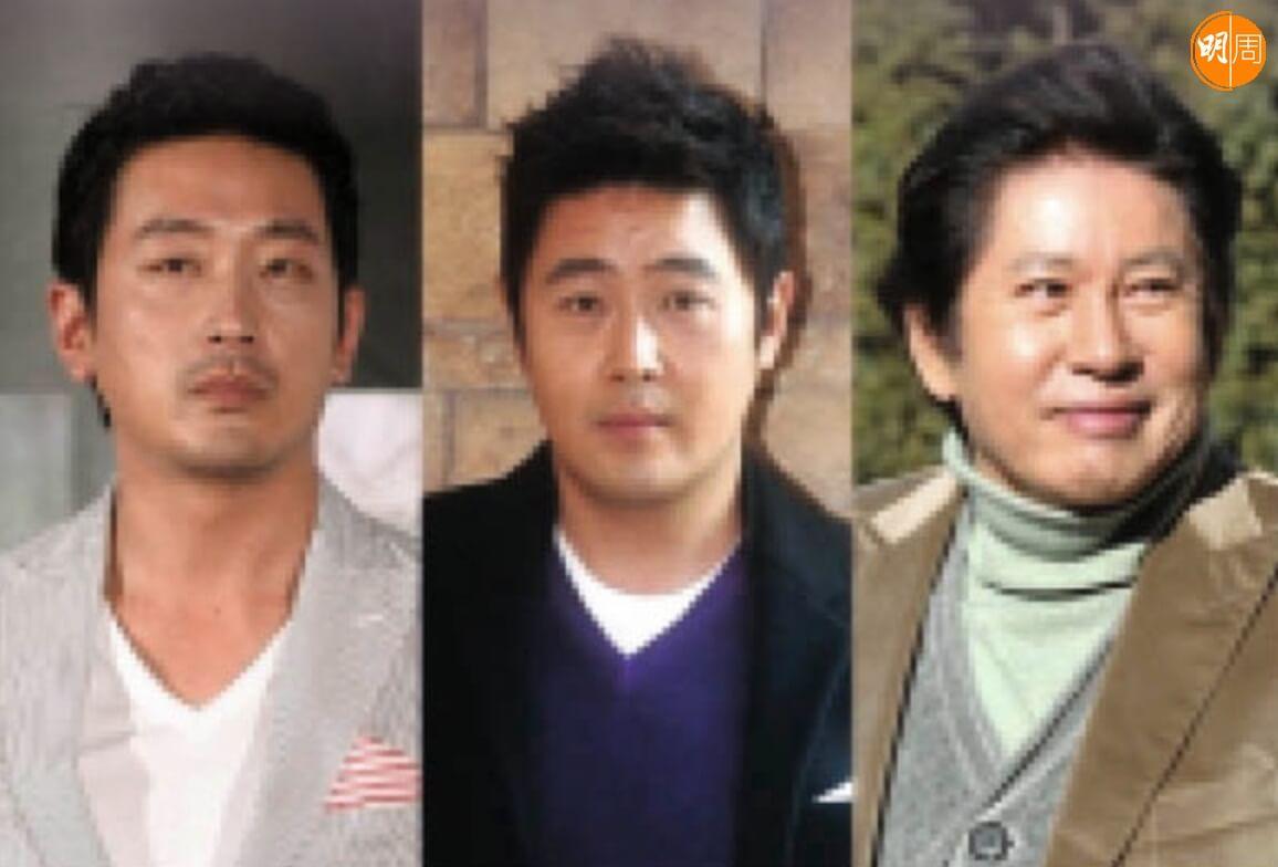 (左起)河正宇、車賢宇、金容建不但不同姓,樣貌亦大有不同。