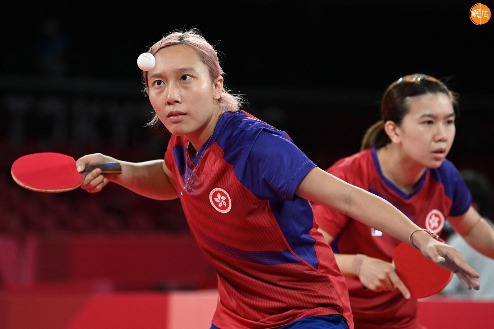 港隊乒乓女子隊成員 圖片來源:法新社