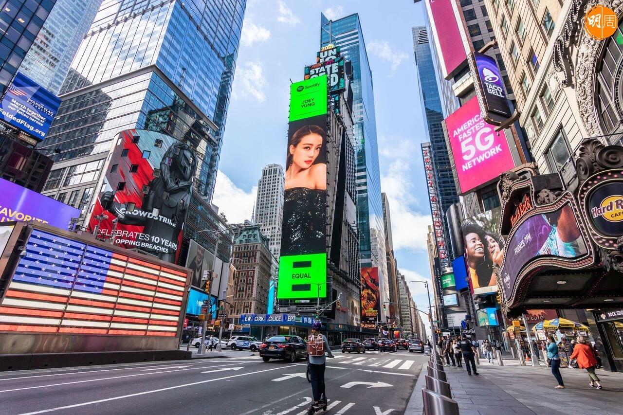 容祖兒近日登上了紐約時代廣場巨mon
